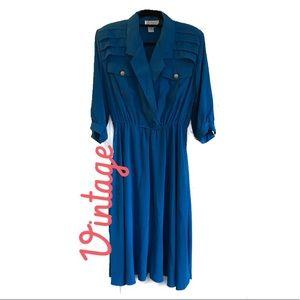 Vintage Blue Dress sz8